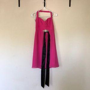 Alfred Angelo Hot Pink bridal dress